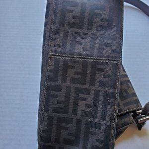 Fendi Bags - Fendi Brown FF Logo Leather Shoulder Bag Baguette
